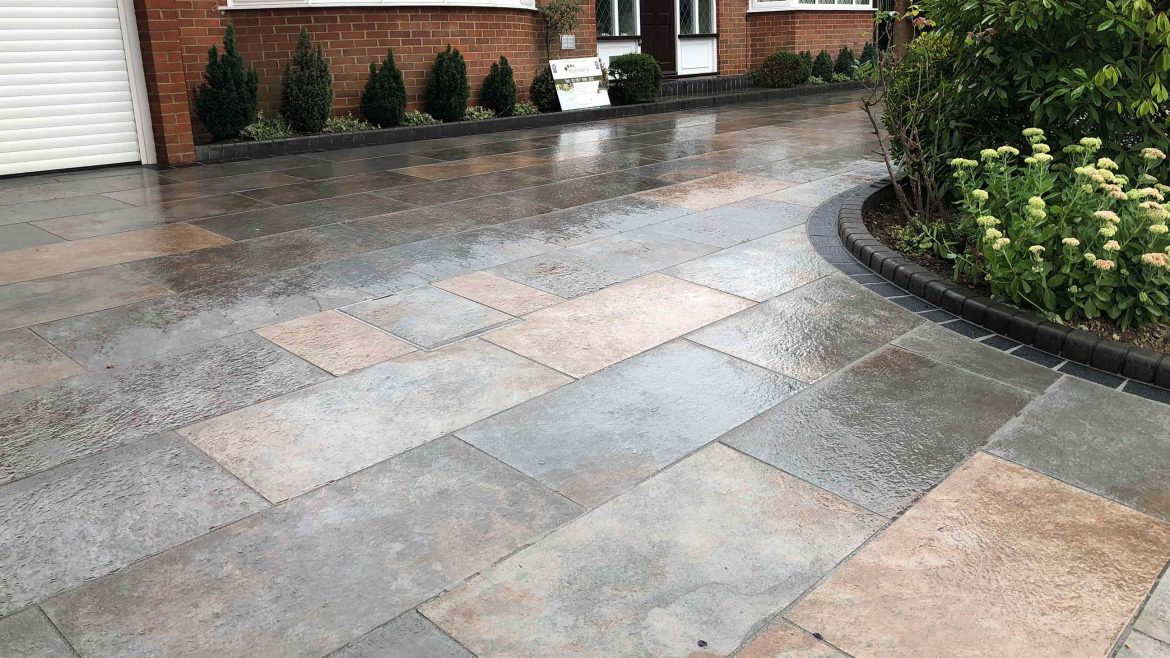 Symphony Vetrified paving - Wooltham Abbey